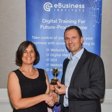 2018 Matt Raad awarding Fiona Herbert her Excellence award